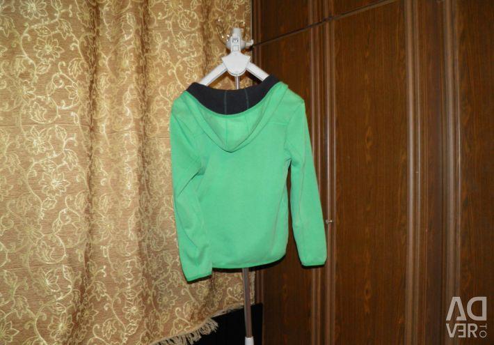 Толстовка женская спорт. зеленая, размер 44