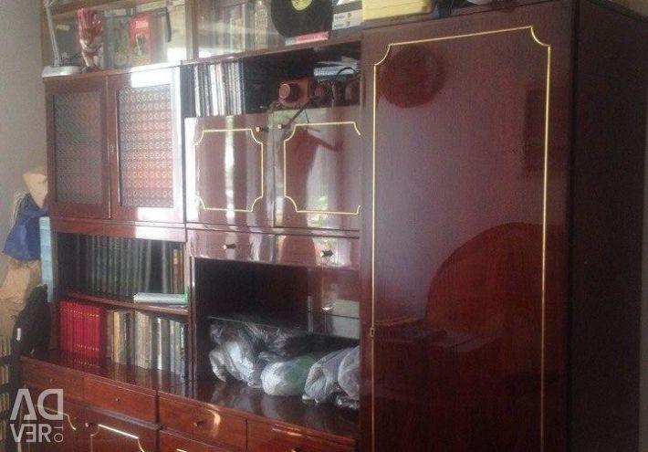 Cabinet / perete / piept de sertare / camera de zi / rafturi pentru cărți din URSS