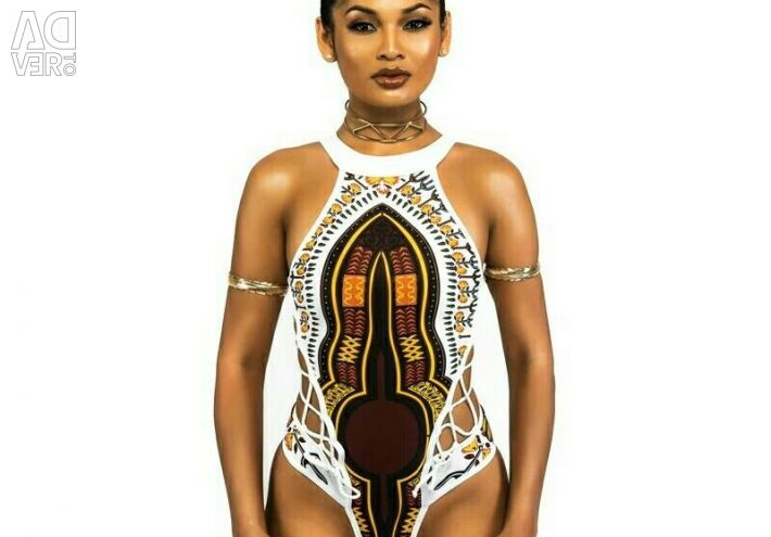 New solid swimsuit in African style