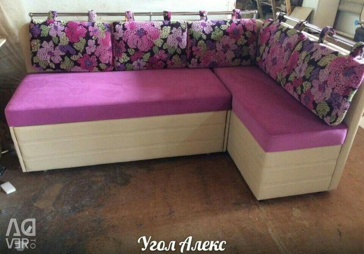 Kitchen corner Alex pink