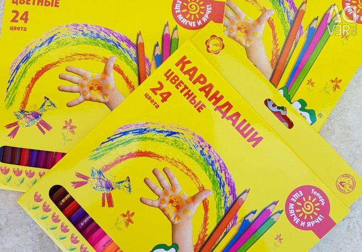 Creioane colorate 24 de culori