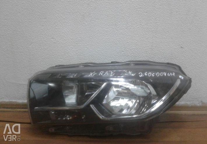 Headlight left Lada X-Ray oem 260600467R (holes in the body) (scrap. Latch.) (Skl-3)