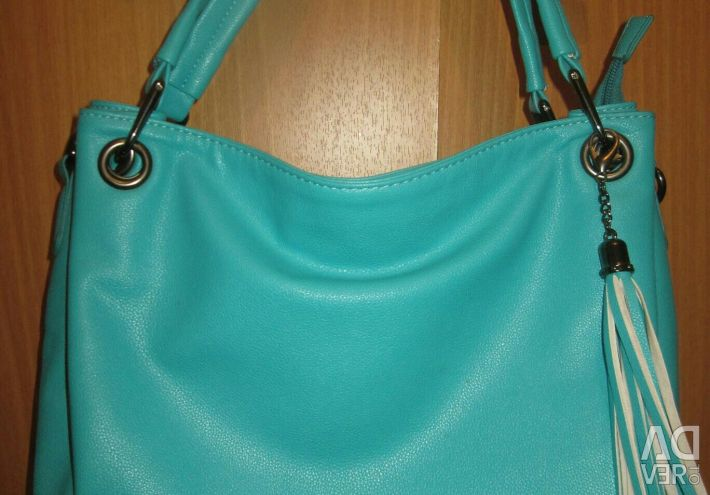 Новая женская сумка Экокожа мятно-бирюзовая