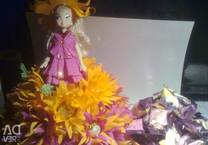 SWEET GIFT OF DOLL FROM CANDY WITH SURPRISE.