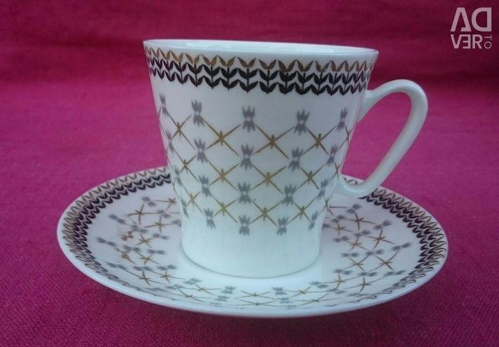 Coffee pair LFZ bone china (cup and saucer)
