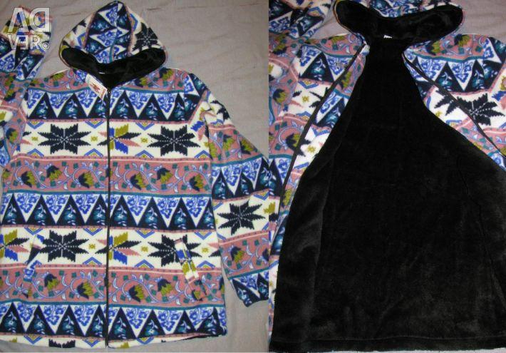 Double fleece sweatshirt with fleece hoodie sweatshirt