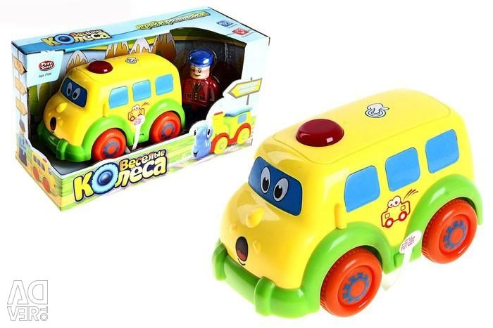 Bus Funny wheels, touch, sound, 7105B
