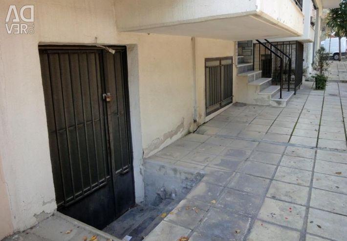 A semi-basement storage area of 120sq.m. on three-