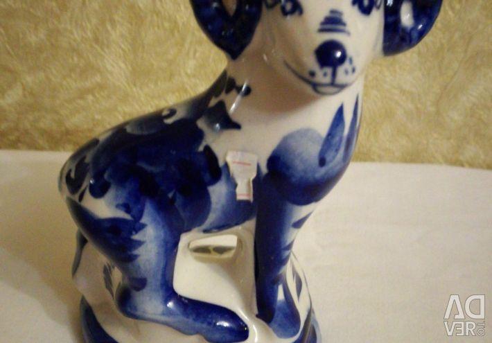 Aries figurine. Gzhel. New.