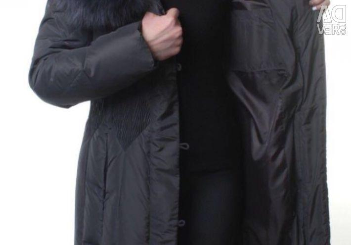 Down-coat-coat (70% Down, 30% feather), nat.