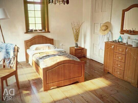 Σετ ύπνου Βενετία Μίνι κερασιά / κρεβάτι / ντουλάπα
