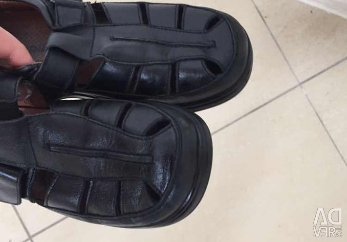 Sandale naturale din piele de 22 cm