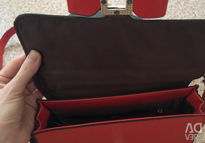 Lacquered bag clutch