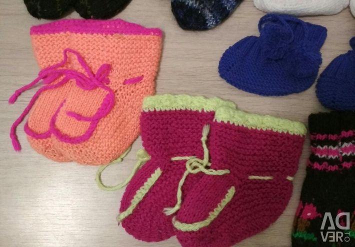 Носки детские шерстяные от 0 до года
