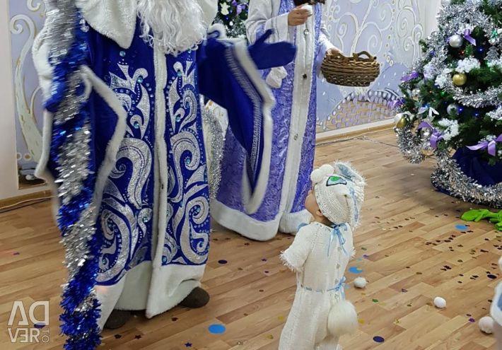 Iepurasul costumului de Anul Nou. Bumbac. 74-86