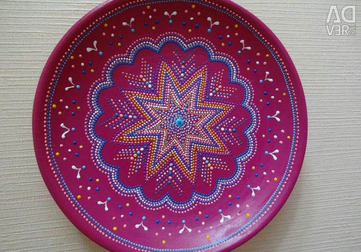 Plate decorative Pink snow
