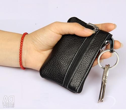 Ключница-кошелек из натуральной кожи