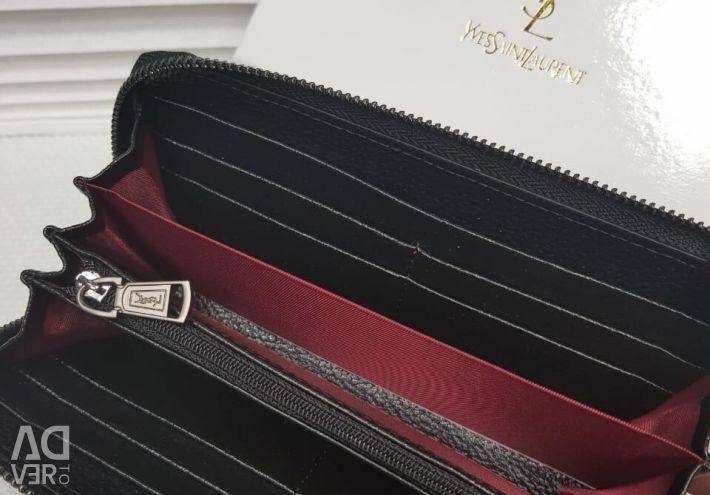New leather wallet Yves Saint Laurent