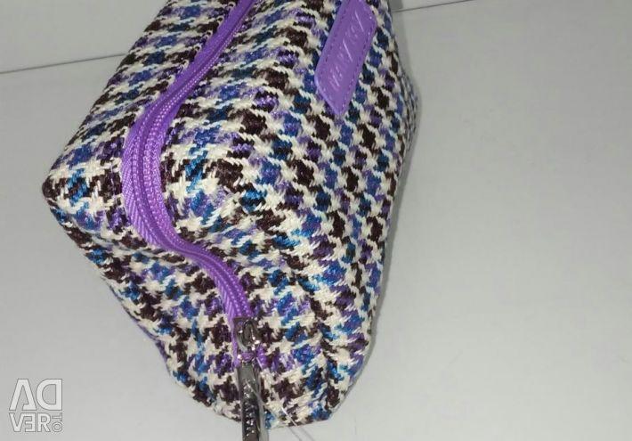 Tweed handbag purple
