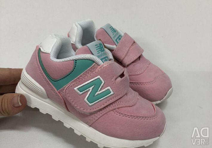 Παιδικά πάνινα παπούτσια νέο ισορροπία 574