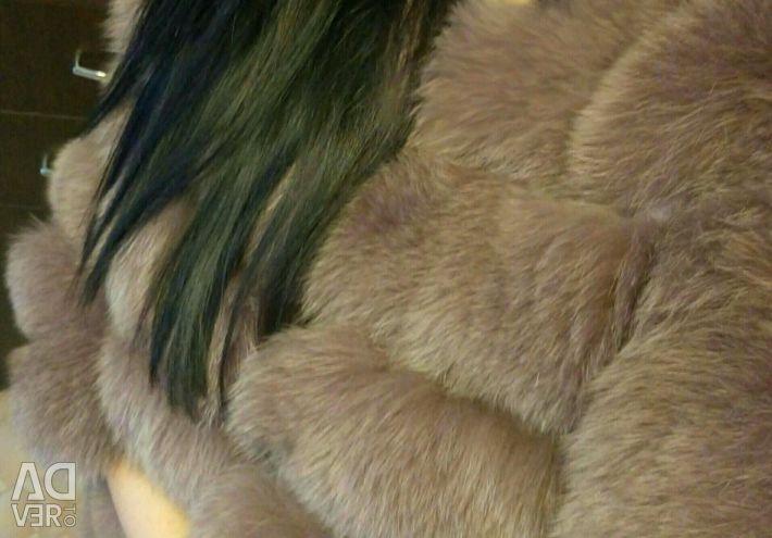 Fur coats of polar fox