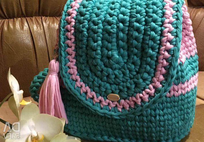 Knitting yarn backpack