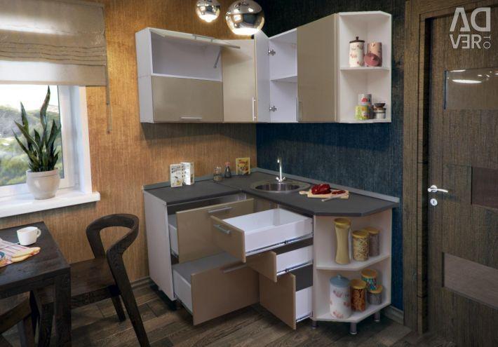 Kitchen Gl 120x160 cm Coffee metallic MDF