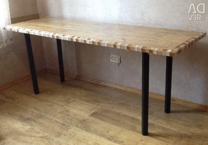 Table 180x60x76 cm, wood, tile finish