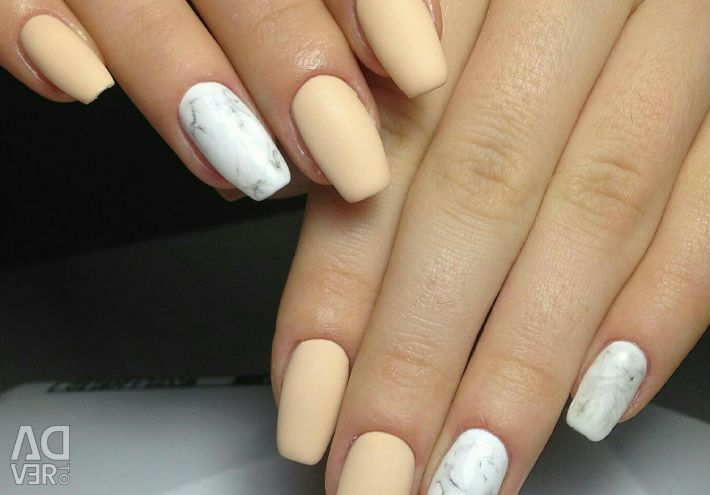 Manicure with a coating