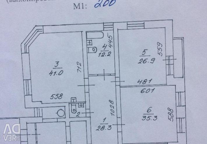 Apartment, 4 rooms, 169 m²