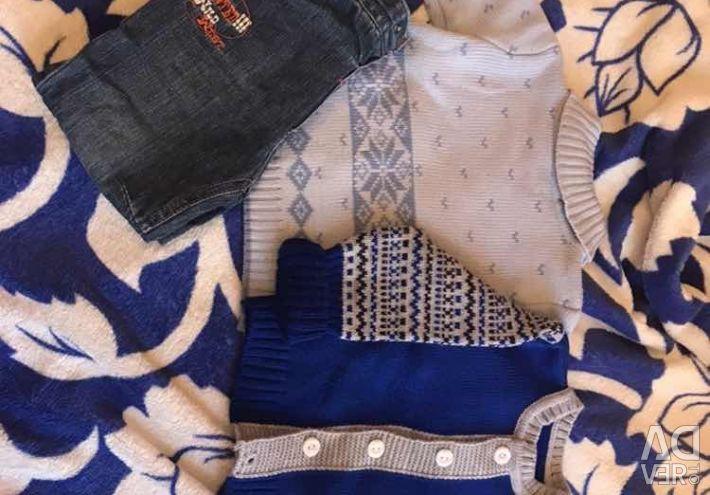 Pulover cald + costum cald tricotat