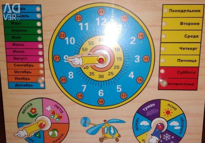 Joc din lemn Ceas-calendar mare nou
