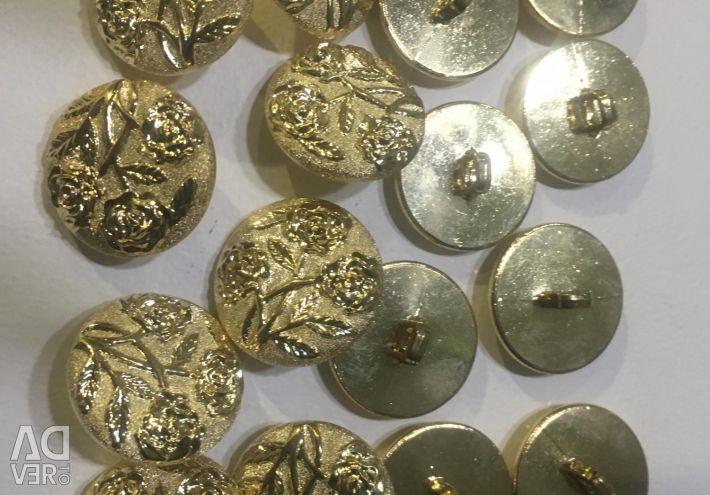 New buttons 25 mm 16 pcs
