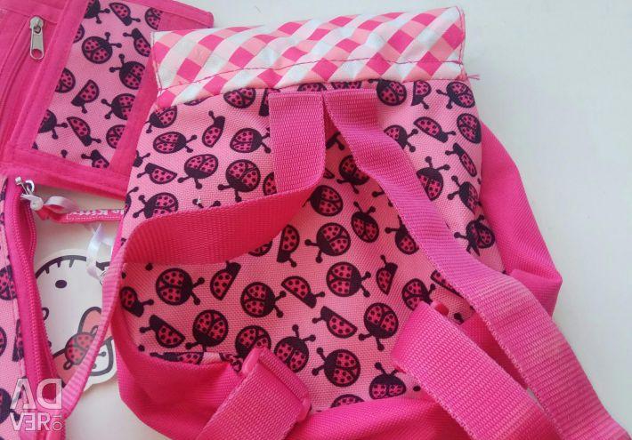 Wallet, backpack, umbrella Hello Kiti