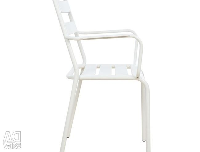 CHAIRS ARMCHAIR METAL WHITE MAD JASON HM5176