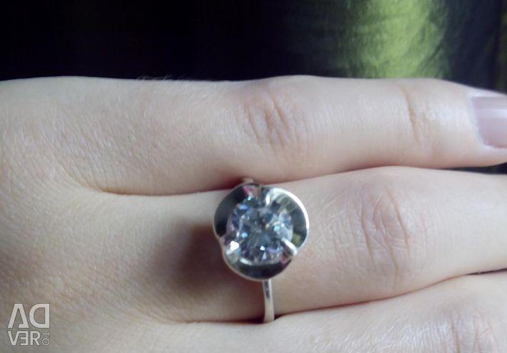 Silver 925, fianit 18r-r.