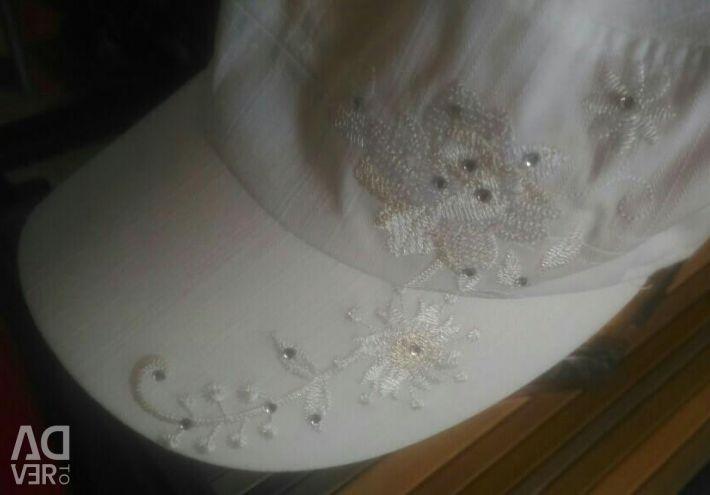 Nakış ve yapay elmas ile yaz beyzbol şapkası