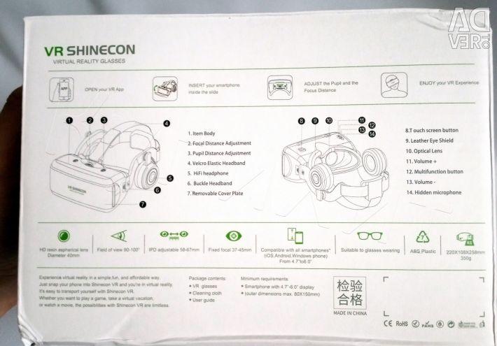 Ochelari VR Cască 3D Shinecon G06E + Nouă la distanță