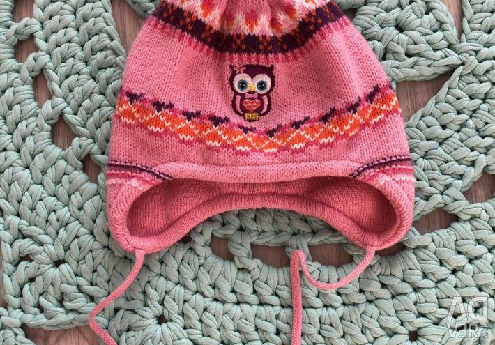 Girl's hat baby raccoon, 44-46