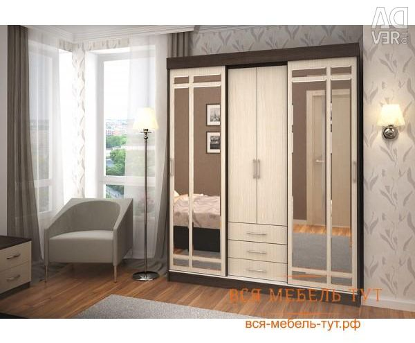 Favorite sliding wardrobe (wenge / oak Belford)