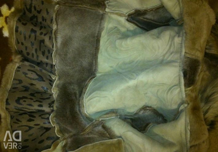 Fur jacket tanned