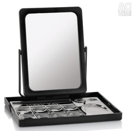 Set: cosmetic bag with a mirror on the stand.