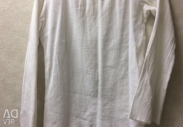 One shoulder cotton tunic