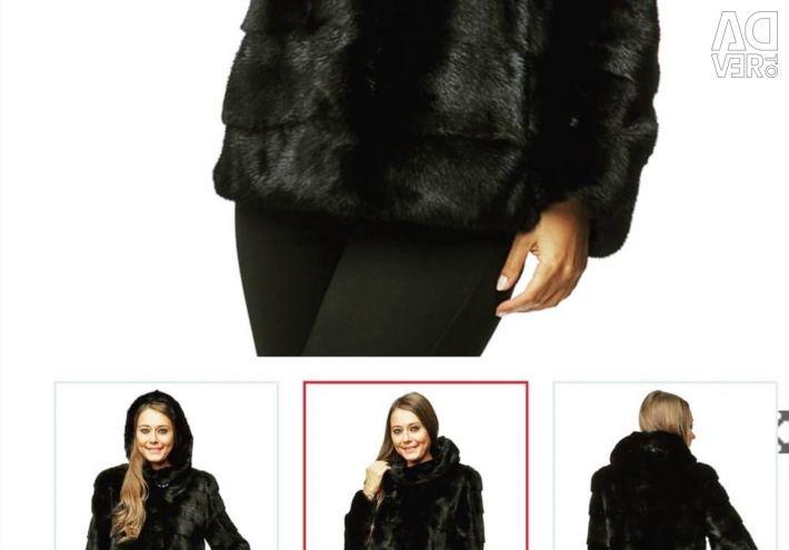 Mink νέο παλτό με ετικέτα φυσικό