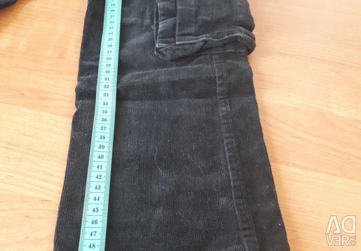 Corduroy pants for thin girls 6-7 years.