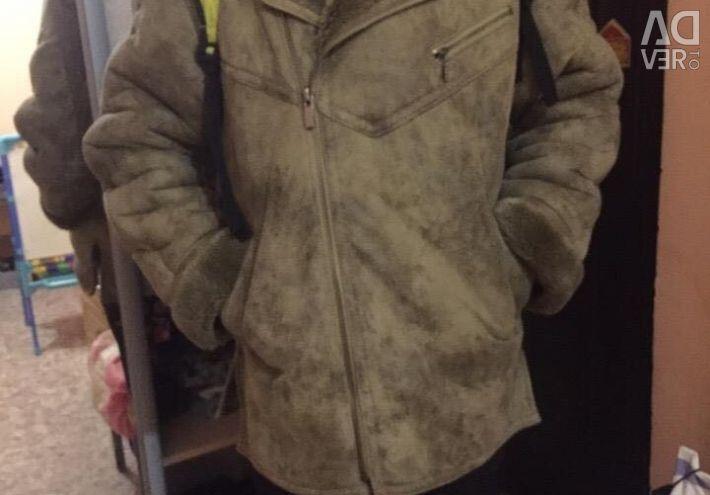 Ανδρικό παλτό από δέρμα προβάτου Eco fur.