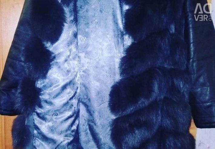 Γούνινο σακάκι γούνινο 2 σε 1 αλεπού.
