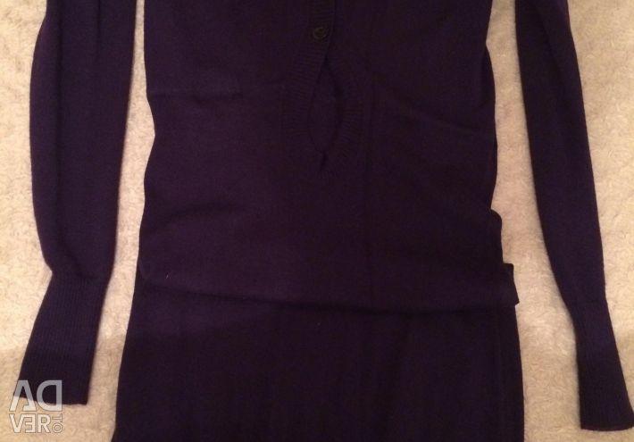 Purple knitted dress