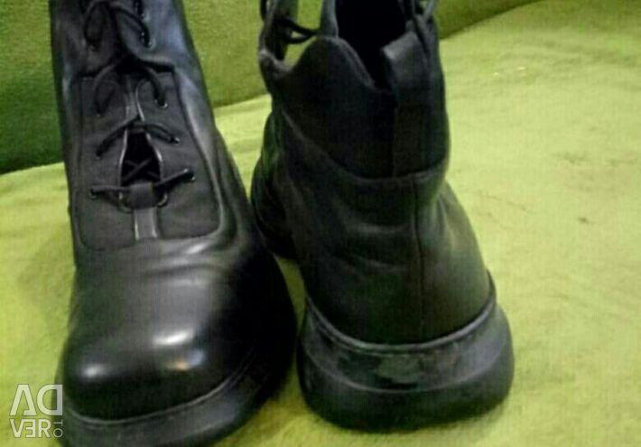 ROSSI cizme din piele natural + dimensiune blana 46