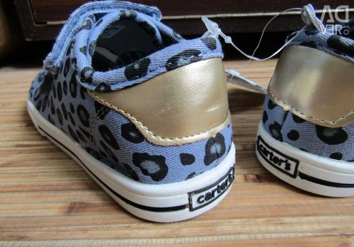 27 πάνινα παπούτσια του κοριτσιού Carters αθλητικά παπούτσια